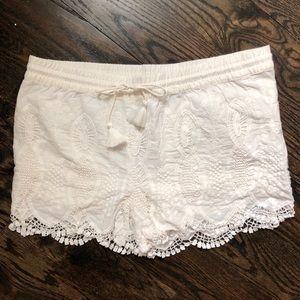 White Loft Shorts